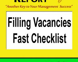 Filling Vacancies Fast Checklist
