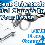 Resident Orientation Rental Clauses in Your Lease